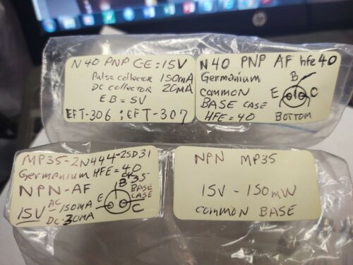 Mp35 NPN /& N40 PNP Russian Germanium Transistors US Seller