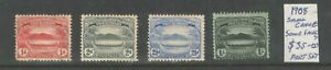 Solomon-Islands-1908-Small-Canoe-Part-Set-Mtd-Mint-and-Used