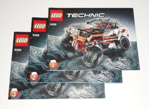 Lego technique technic de recette//instructions pour 4x4 Extreme RADIOCOMMANDEES 9398