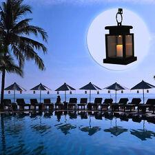 1 Auto Waterproof Solar Powered Hanging Umbrella Lantern LED Garden Candle Light