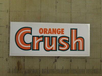 """Vintage Orange Crush sticker decal 5""""x2"""""""