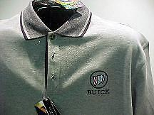 TRI SHIELD BUICK SHORT SLEEVE TWO TONE GM LICENSED EMBROIDERED POLO SHIRTS 8537