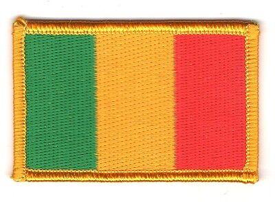 Parche bandera PATCH ZAMBIA 7x4,5cm bordado termoadhesivo nuevo