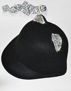 2017 NEW CELEBRITY designer women fashion cat-hat with Swarovski crystals