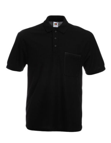 Fruit of the Loom Mens Polo Shirt short Sleeve with Breast Pocket S XXL 3XL