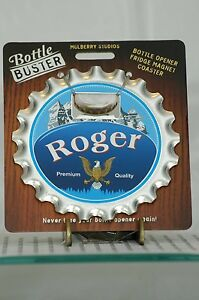 BOTTLE BUSTER ROGER~COASTER~FRIDGE MAGNET~BOTTLE OPENER~NEW~FREE US SHIP~
