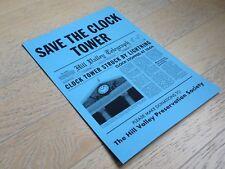 Retour Vers le Futur SAVE THE CLOCK TOWER back to the future hoverboard delorean