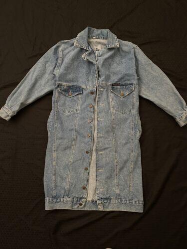 Vintage Chemin De Fer Jean Jacket Trench Coat Styl
