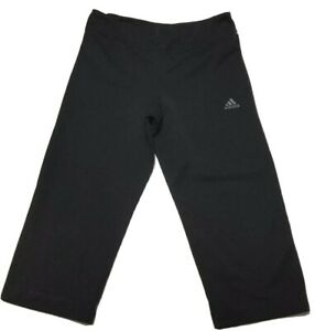 ADIDAS-Climalite-Women-s-Size-XS-Black-Yoga-Workout-Activewear-Capri-Pants