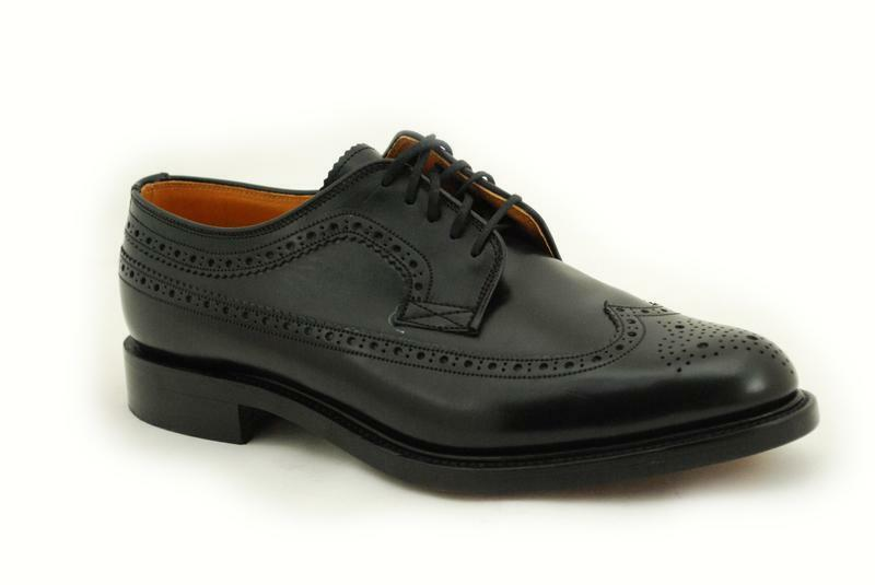 Loake Rahmengenähte Premium Herren & Damenschuh 5 Eye Black Polished Shoe 803B