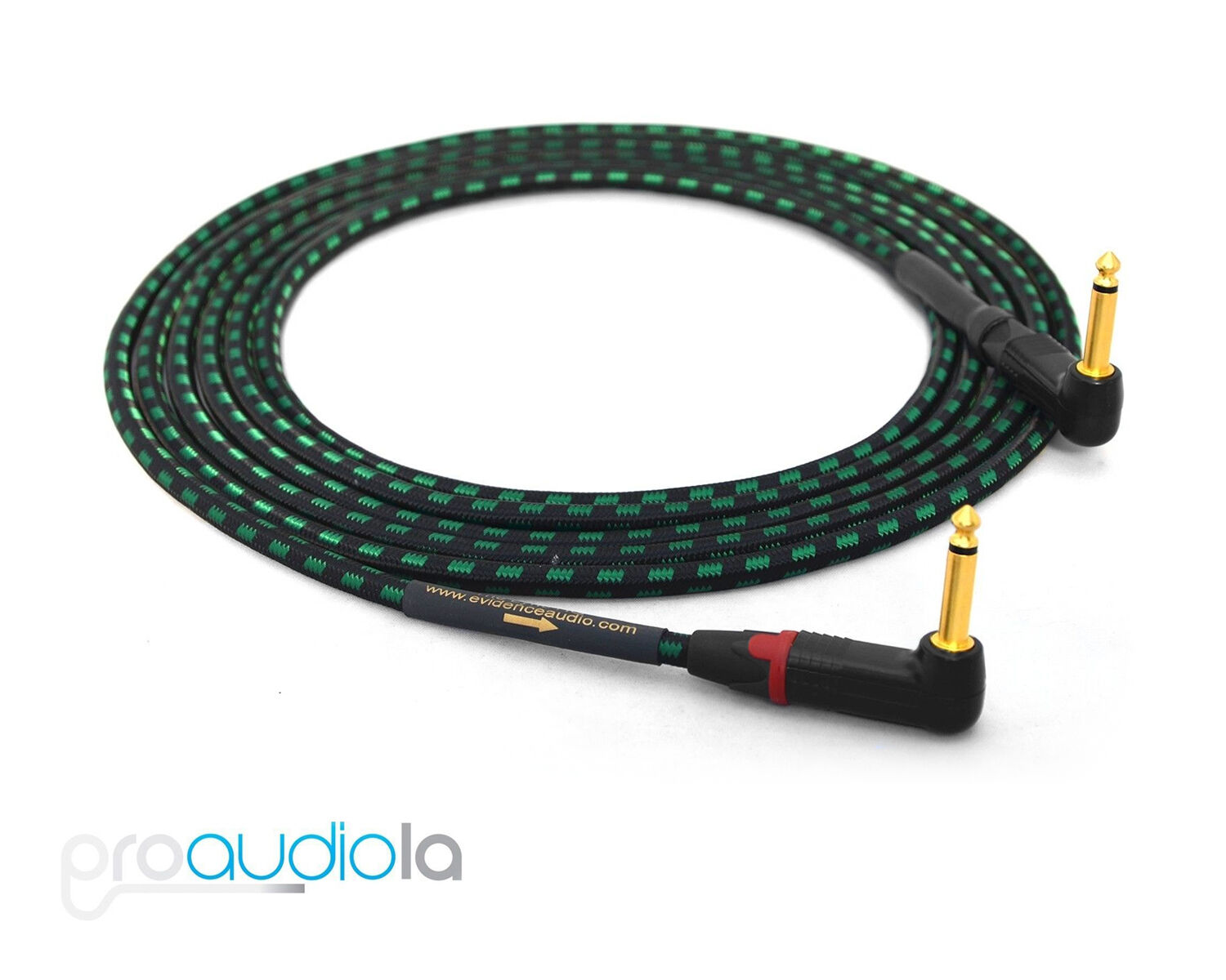 Evidence Audio Lyric HG Instrument Cable   Neutrik Gold 90º to 90º 1 4    2 ft.