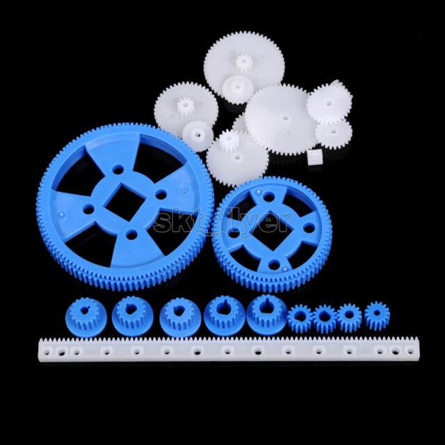23 Styles Plastic Gears Rack M0.5 Robotic Car Trucks Model Toy Shaft Diy Part