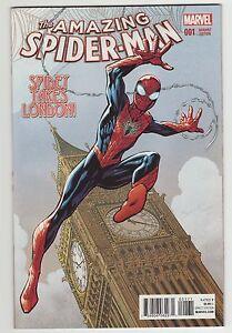 AMAZING-SPIDER-MAN-1-vol-4-NM-New-1-25-Bagley-Variant-mylar-bag-London