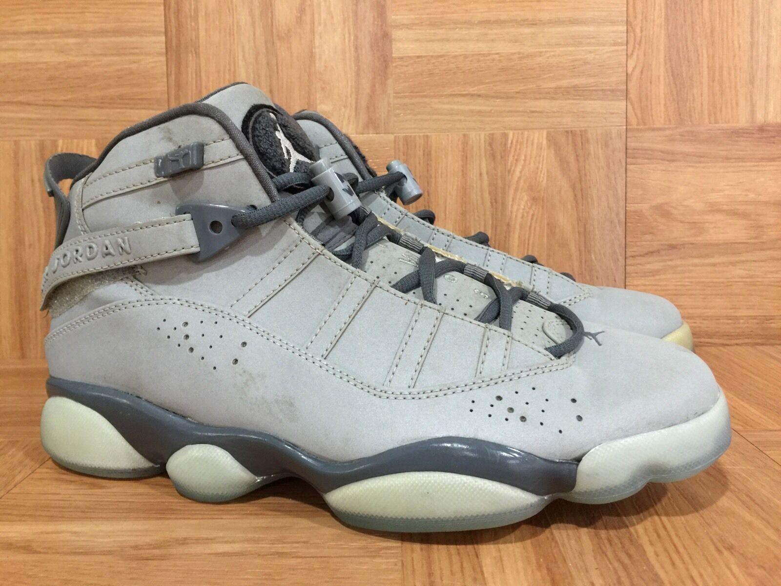 RARE Nike Air Jordan 6 Rings 3M Silver Graphite Sz 8 322992-001 Basketball LE