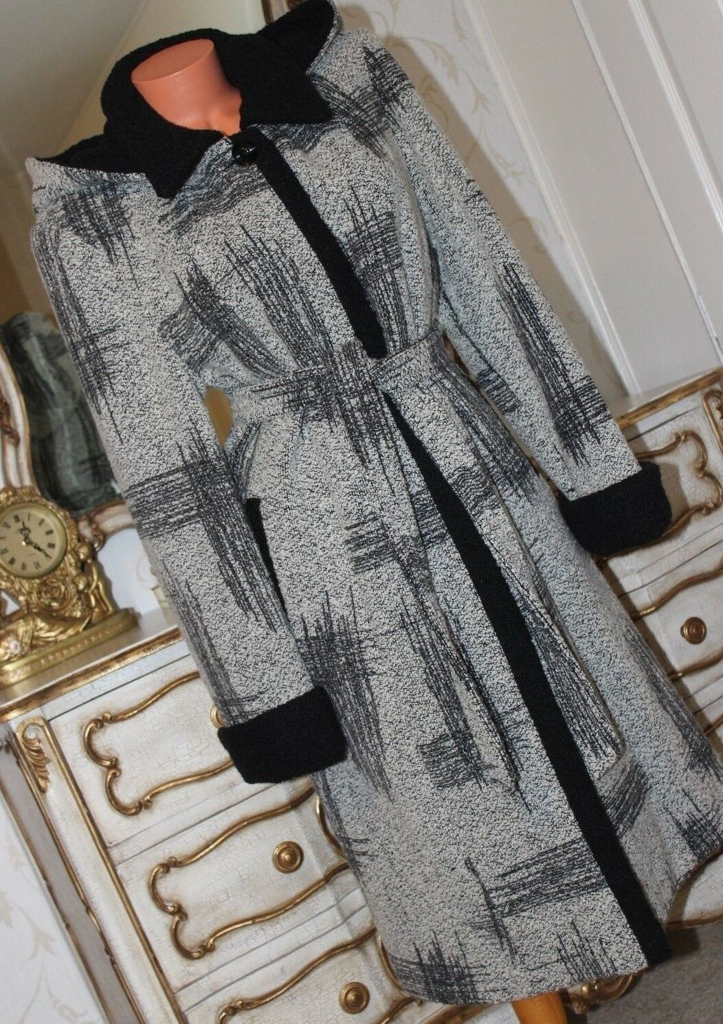 MODEMI COLLECTION Warm Padded Ladies Wool Blend Winter Winter Winter Coat size 12 5e9d70