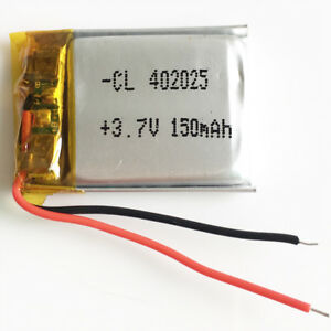 Details about 3 7V 150mAh LiPo rechargeable Battery li cells For Mp3  Bluetooth camera 402025