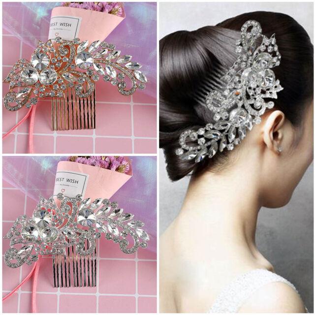 Women Bridal Crystal Comb Hair Clip Pins Wedding Headpiece Delicate Hairwear 1pc