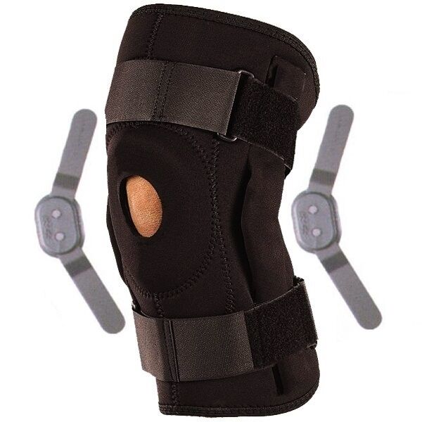 Adjustable Neoprene Hinged Stay Medical Use Wrap Open Knee Patella Brace Support