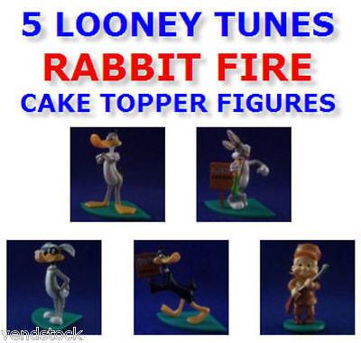 5 NEW LOONEY TUNES RABBIT FIRE MINI FIGURE CAKE TOPPER DECORATIONS YOU PICK