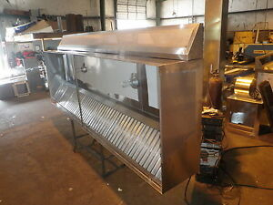 4 Ft Type L Commercial Kitchen Exhaust Hood With M U Air