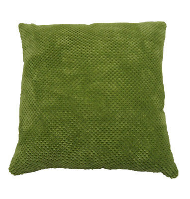 Chenille Spot Cushion Cover Green 43x43cm