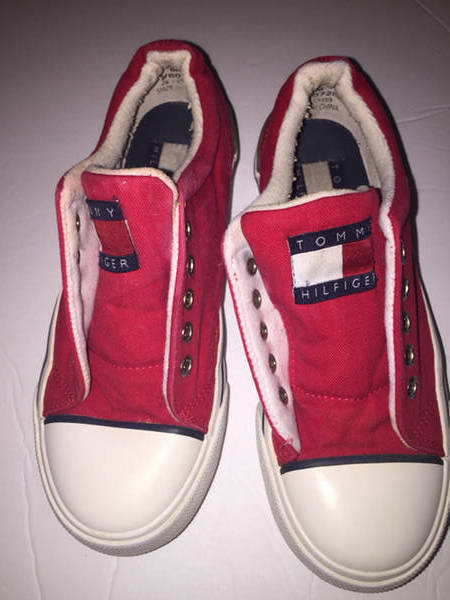 TOMMY 6 HILFIGER SNEAKERS Red White Vintage Style 6 TOMMY M Womens Big Flag 56a2f0