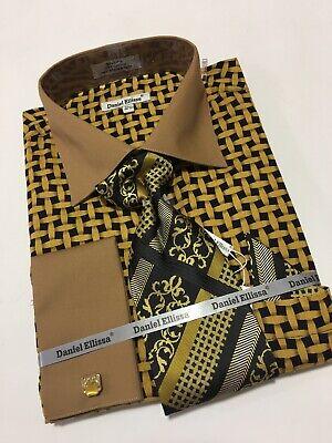 Details about  /Men/'s DANIEL ELLISSA French Cuff Dress Shirt Necktie Hanky Cufflinks Set$39.99ea