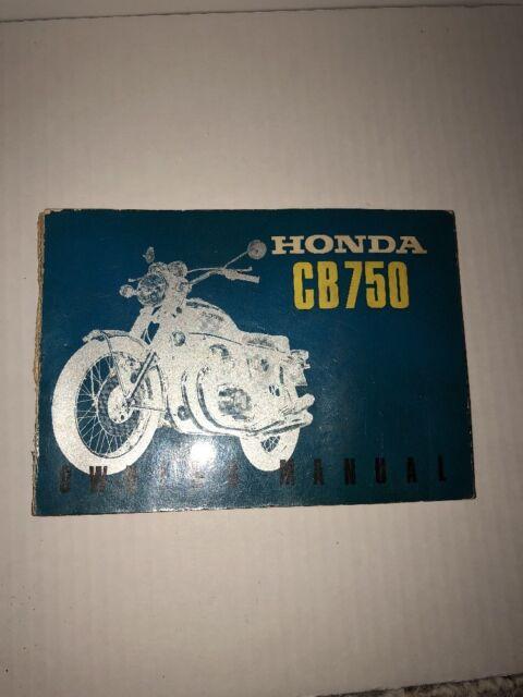 Honda Cb750 Owners Manuel Including Wiring Diagrams