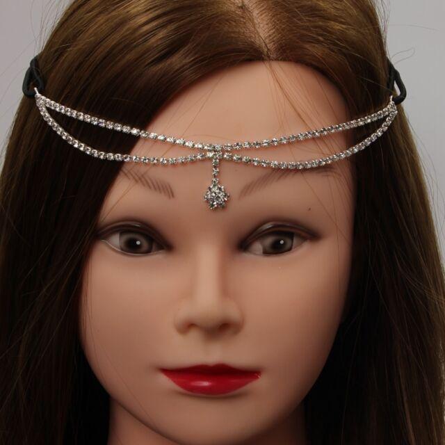 Edles Hochzeits Haarband mit Strass Stirnband Tiara Braut Diadem