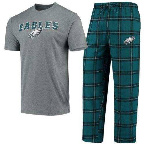 Philadelphia Eagles Pajamas Troupe Shirt And Pants Sleepwear 2-Piece Set