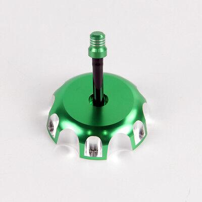NEW SILVER CNC BILLET FUEL GAS CAP KAWASAKI KX250F KFX450R KX250 KLX450R