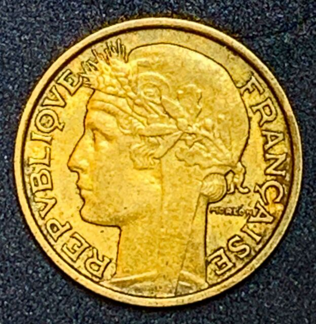 1932 France or French 50 Centimes Aluminum-Bronze Coin #80 Type A (909)