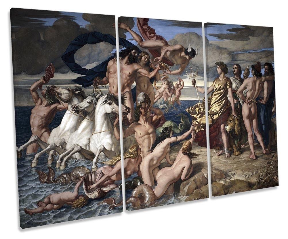 William Dyce Neptune IMPERO DEL MARE FOTO FOTO FOTO TREBLE TELA Wall Art Print 4ec6c2