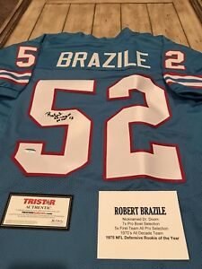 2bc58def Image is loading Robert-Brazile-Autographed-Signed-Jersey-TRISTAR-COA- Houston-