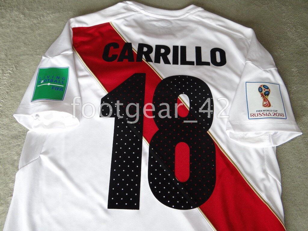 nuovo Umbro Peru Official ere autorillo Authentic Jersey Shirt Russia WC 2018