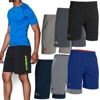"Under Armour 2015 Mens UA Hiit Woven 8"" Shorts HeatGear Sports Gym Mesh Training"