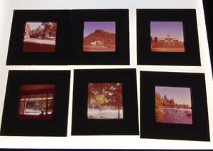 Vintage-Photo-Color-Slides-Lot-Of-28-Bend-Area-Grants-Pass