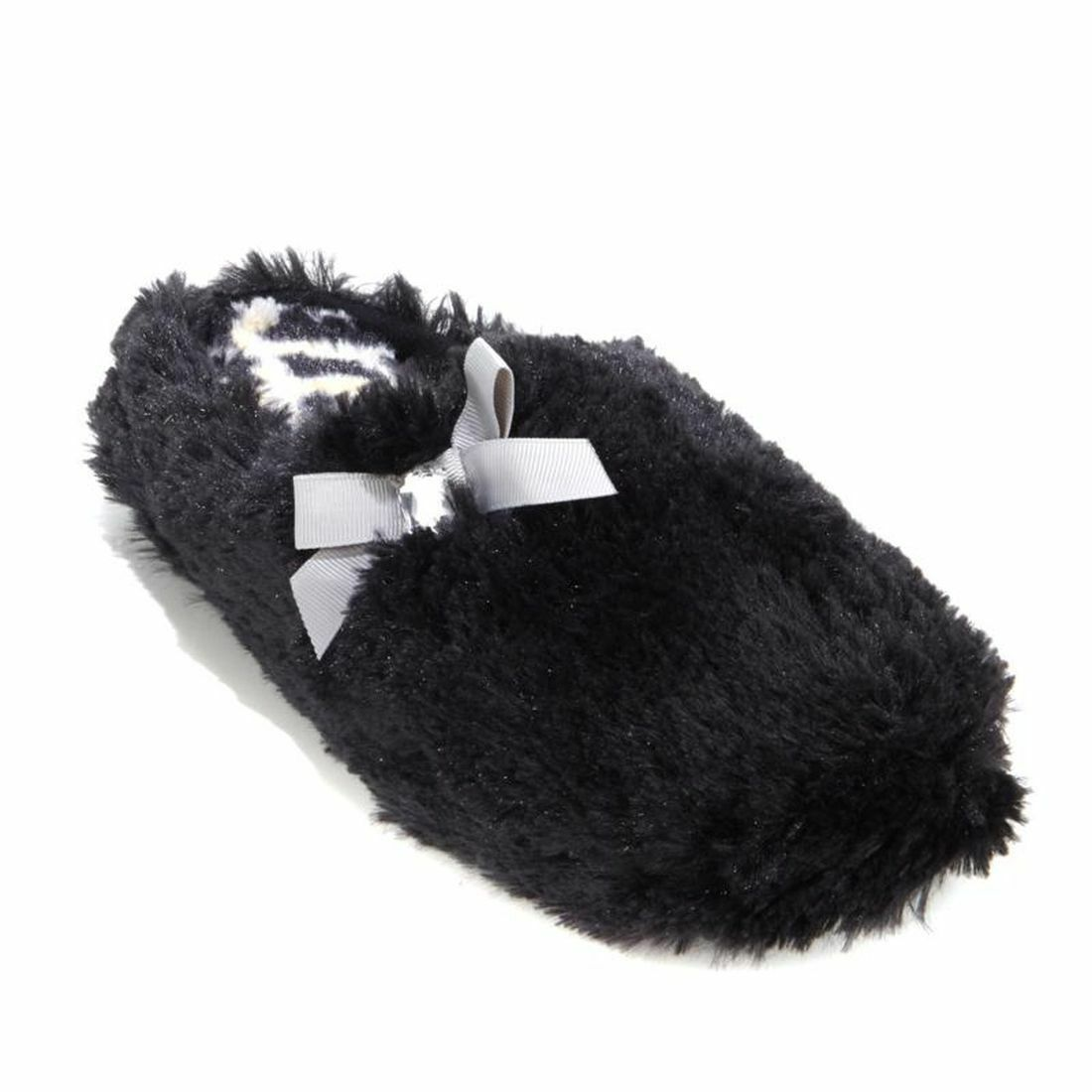 Foot Petals Pile Clog Slipper , Size 7-8 , Black