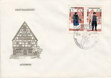 DDR FDC Ersttagsbrief 1966 Mi.1214+15 Sonderstempel Rennreifen Waltershausen