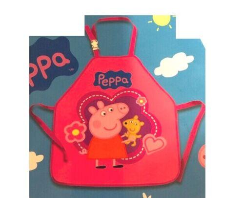 Peppa Pig Schwein SCHÜRZE MALSCHÜRZE KINDERSCHÜRZE NEU rosa Bär