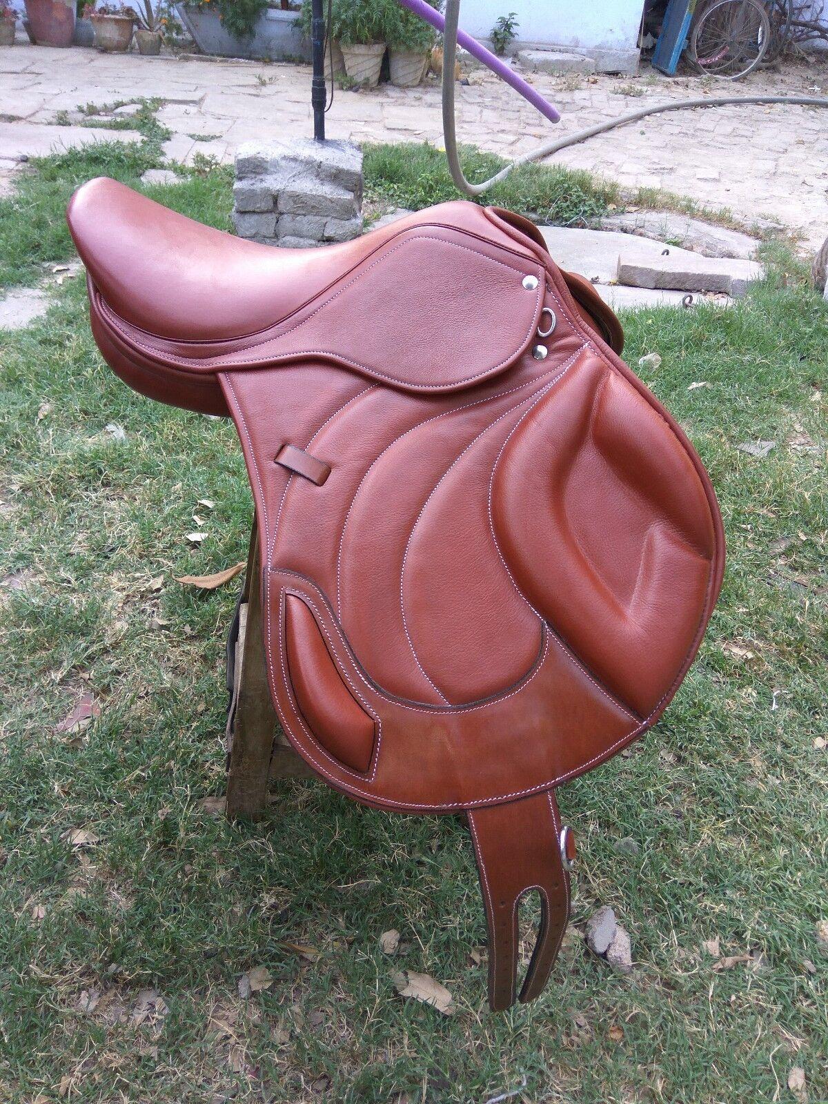 Nuevo salto estrecho contacto 100% cuero genuino sillín marrón Spring sillín