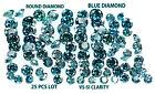 Natural Loose Diamond Cut Round Shape Blue Color VS-SI, 25 Pcs Lot K3