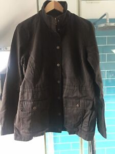 Fat-Face-Wax-Style-Jacket-Chocolate-Brown-Size-14