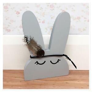 Details About Handmade Wooden Bunny Nursery Decor Shelf Accessory Rabbit