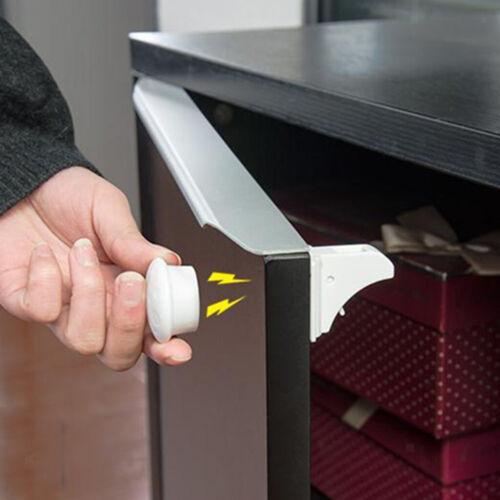 5Pcs Magnetic Cabinet Locks Baby Safety Set:4 Locks+1 Key Child Proof Kits