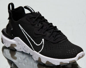 Nike-React-Vision-Men-039-s-Black-White-Athletic-Low-Lifestyle-Shoes-Sneakers