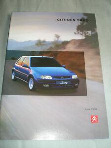 Copieux Citroen Saxo Gamme Brochure Jun 1998-afficher Le Titre D'origine
