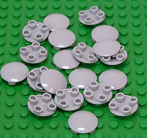 LEGO 20 x Gleitfliese rund 2x2 hellgrau 2654 NEUWARE Deckel Gleitfuß