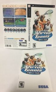 virtua tennis world tour psp original replacement artwork manual rh ebay com Sony PSP 2001 Manual Sony PSP 2001 Manual
