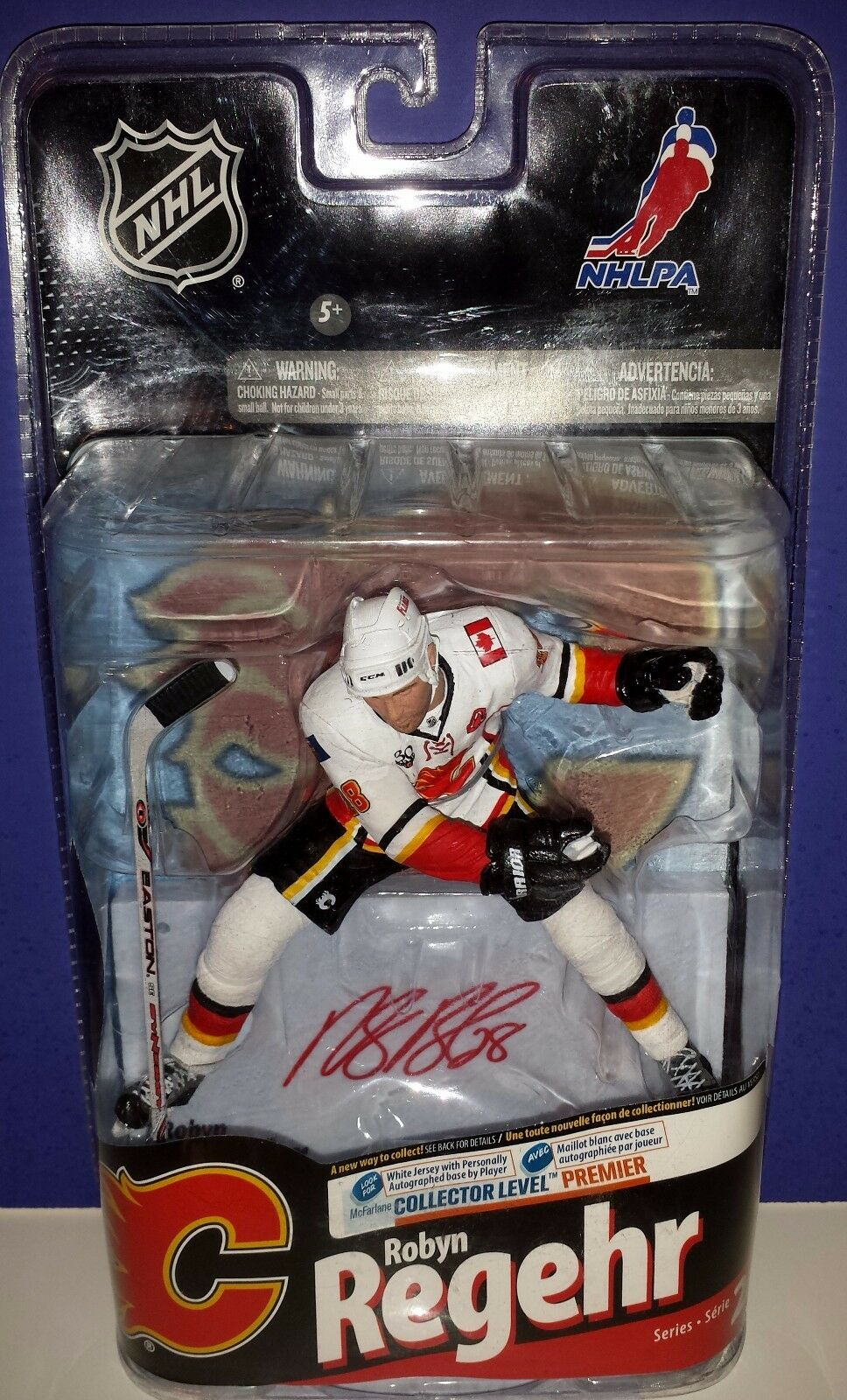 ROBYN REGEHR Calgary Flames Autographed Variant CL Premier Mcfarlane 199/200 NEW